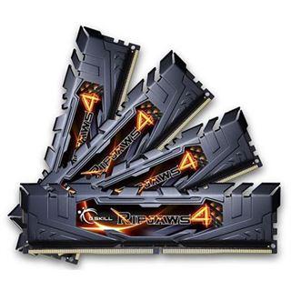 16GB G.Skill RipJaws 4 schwarz DDR4-2400 DIMM CL14 Quad Kit