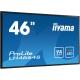 "46"" (116,84cm) iiyama ProLite LH4664S schwarz 1920x1080 BNC/1xHDMI 1.3/1xKomponenten (YUV)/1xComposite/S-Video/VGA/DVI-D/DisplayPort/seriell"