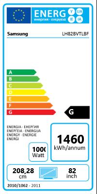 """82"""" (208,28cm) Samsung 820DXn schwarz 1920x1080 BNC/1xHDMI 1.3/1xVGA/1xDVI/1xCVBS Buchse/Component-Eingang (Y/Pb/Pr) /S-Video"""
