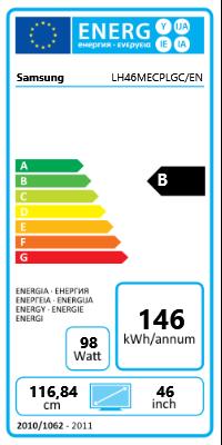 "46"" (116,84cm) Samsung ME46C schwarz 1920x1080 2xHDMI 1.3/1xVGA/1xKomponenten (YUV)/1xComposite/DVI-D/2xDisplayPort /seriell"