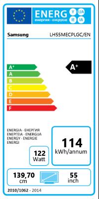 "55"" (139,70cm) Samsung ME55CPLGC/EN schwarz 1920x1080 2xHDMI 1.3/1xVGA/1xDVI/2xDP/1xComposite/Component-Eingang (Y/Pb/Pr)"